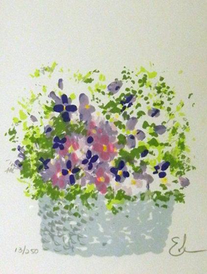 Violet Basket Limited Edition Print by Eda Varricchio