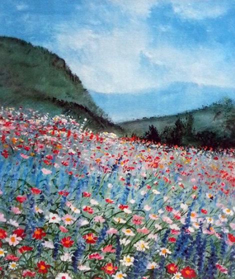 Untitled Floral Landscape AP 1980 Limited Edition Print by Eda Varricchio