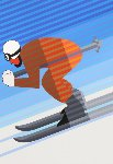 Skier 1984 Limited Edition Print - Victor Vasarely