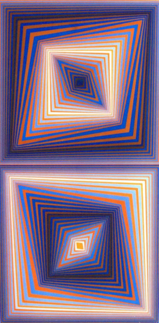 Bi-Rhombs 1978 Limited Edition Print by Victor Vasarely