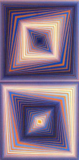 Bi-Rhombs 1978 Limited Edition Print - Victor Vasarely