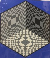 Cubic Relationships 1982 Limited Edition Print by Victor Vasarely - 1