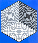 Cubic Relationships 1982 Limited Edition Print - Victor Vasarely