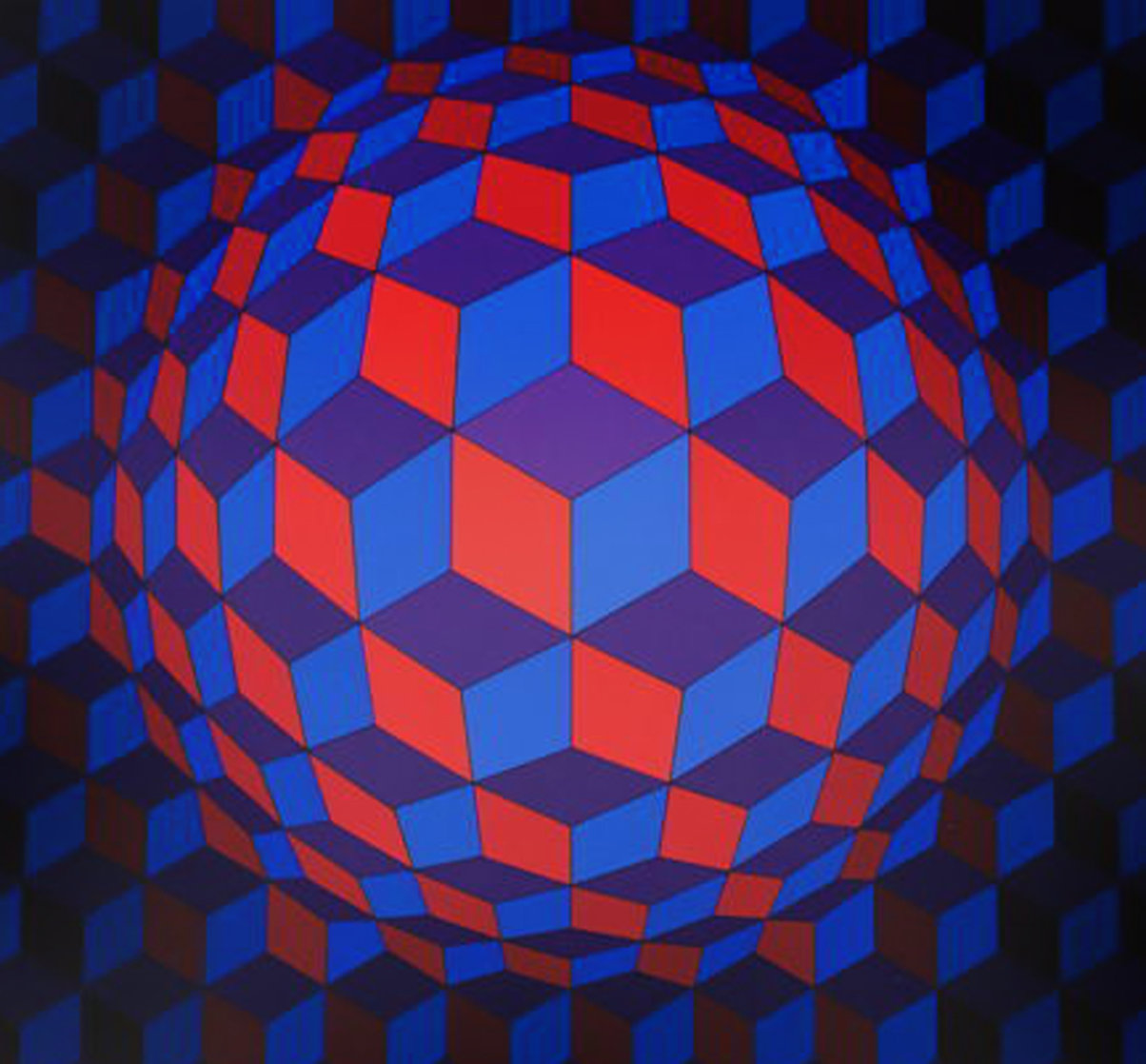 Cheyt Rond 1974 Limited Edition Print by Victor Vasarely