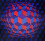 Cheyt Rond 1974 Limited Edition Print - Victor Vasarely