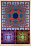 Tri-Vega 1983 Limited Edition Print by Victor Vasarely - 1