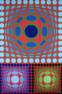 Tri-Vega 1983 Limited Edition Print by Victor Vasarely