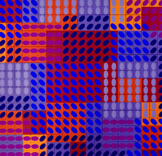 Tavoll-Rouge 1979 Limited Edition Print - Victor Vasarely