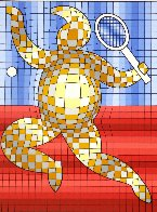 Tennis Player 1980 Limited Edition Print by Victor Vasarely - 0