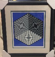 Cubic Relationship  1982 Limited Edition Print by Victor Vasarely - 1