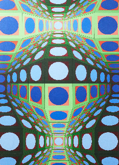 Pava 1978 25x43 Huge  Limited Edition Print - Victor Vasarely