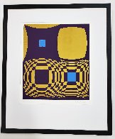 Mi-Ta (Purple and Gold) 1970 Limited Edition Print by Victor Vasarely - 1