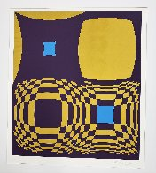 Mi-Ta (Purple and Gold) 1970 Limited Edition Print by Victor Vasarely - 2