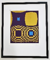 Mi-Ta (Purple and Gold) 1970 Limited Edition Print by Victor Vasarely - 3