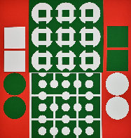 Yvaral (Red and Green) 1970 Limited Edition Print by Victor Vasarely - 0