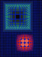 Circle Square 1972 Limited Edition Print by Victor Vasarely - 0