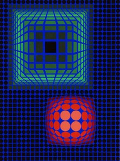Circle Square 1972 Limited Edition Print by Victor Vasarely