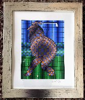 Golfer (Blue and Gold) 1970 Limited Edition Print by Victor Vasarely - 1