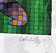 Golfer (Blue and Gold) 1970 Limited Edition Print by Victor Vasarely - 2