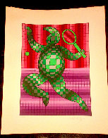 Tennis Player 1977 Limited Edition Print by Victor Vasarely - 1