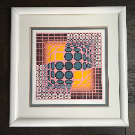 Pink Composition Limited Edition Print by Victor Vasarely - 1
