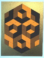 Composition Gold 1980 Limited Edition Print by Victor Vasarely - 1