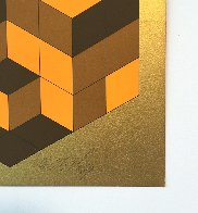 Composition Gold 1980 Limited Edition Print by Victor Vasarely - 2