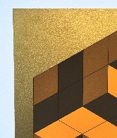 Composition Gold 1980 Limited Edition Print by Victor Vasarely - 3