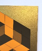 Composition Gold 1980 Limited Edition Print by Victor Vasarely - 4