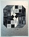 Composition Silver 1980 Limited Edition Print by Victor Vasarely - 1