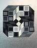 Composition Silver 1980 Limited Edition Print by Victor Vasarely - 0