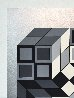 Composition Silver 1980 Limited Edition Print by Victor Vasarely - 3