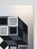 Composition Silver 1980 Limited Edition Print by Victor Vasarely - 4