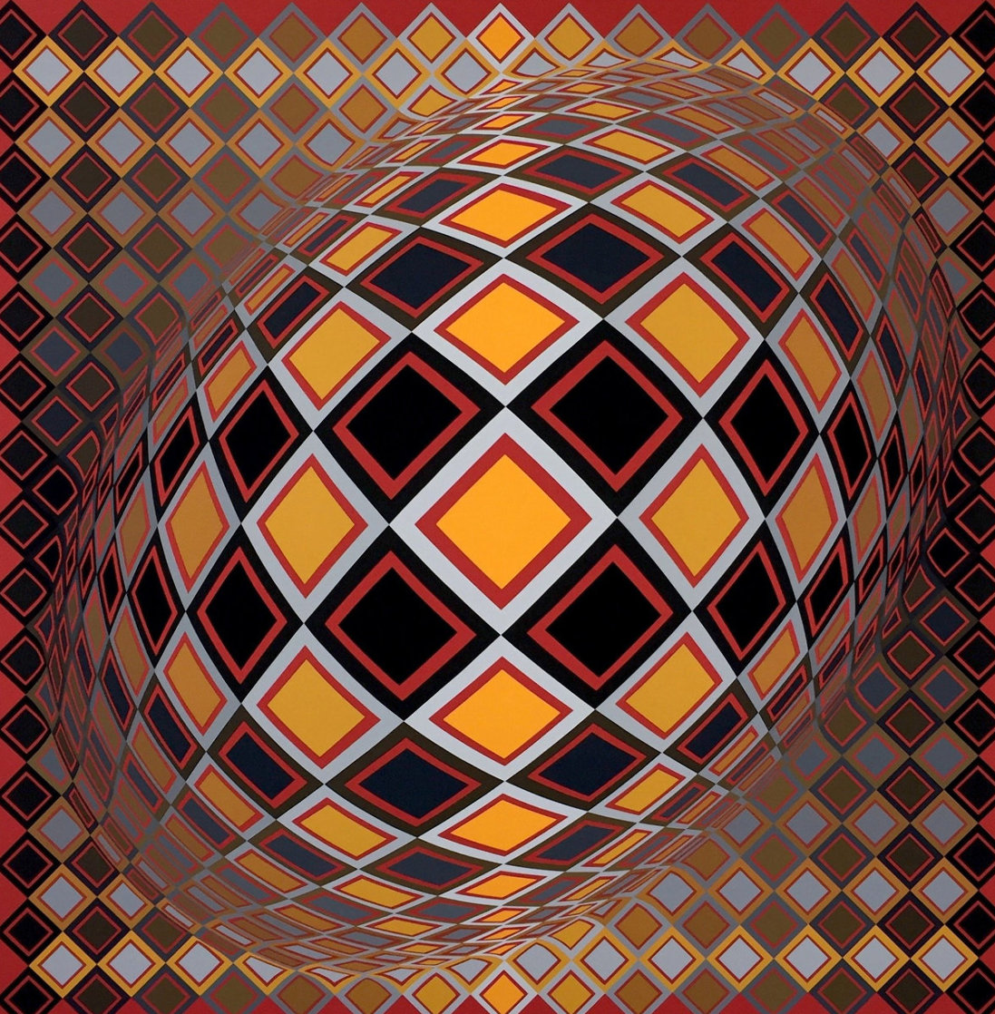 Teke 1970 (Early) Limited Edition Print by Victor Vasarely