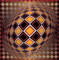 Teke 1970 (Early) Limited Edition Print by Victor Vasarely - 0