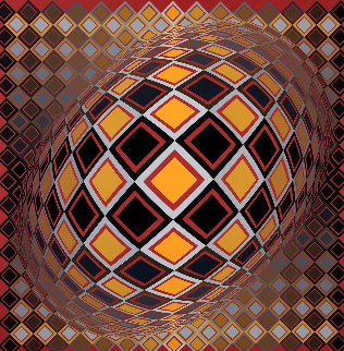 Teke 1970 (Early) Limited Edition Print - Victor Vasarely