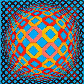 Bez Tzyulur 1974 (Early) Limited Edition Print - Victor Vasarely