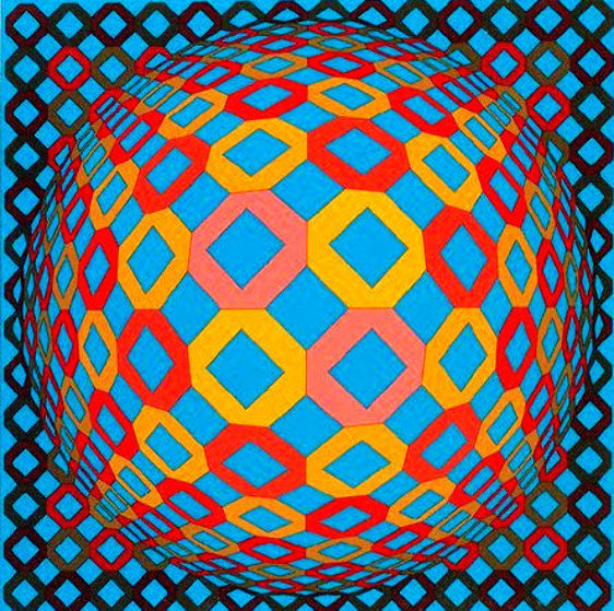 Bez Tzyulur 1974 Limited Edition Print by Victor Vasarely