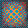 Bez Tzyulur 1974 Limited Edition Print by Victor Vasarely - 2