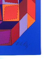 Untitled #7 (Blue, Red And Purple) Limited Edition Print by Victor Vasarely - 1