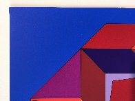 Untitled #7 (Blue, Red And Purple) Limited Edition Print by Victor Vasarely - 3