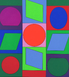 Zaphir 1970 Limited Edition Print by Victor Vasarely