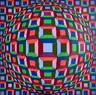 Untitled Op Art: Helios Suite EA 1981 Limited Edition Print by Victor Vasarely - 0