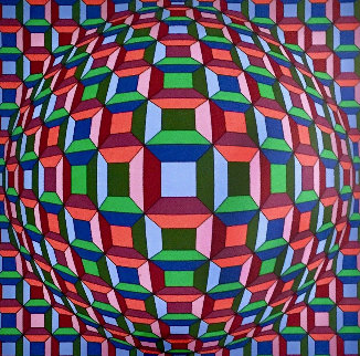 Untitled Op Art: Helios Suite EA 1981 Limited Edition Print by Victor Vasarely