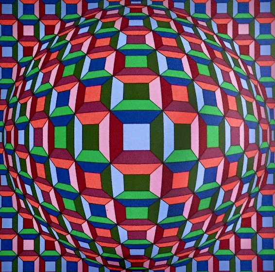 Untitled Op Art: Helios Suite EA 1981 by Victor Vasarely