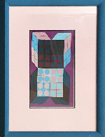 Untitled - Mauve 1985 37x25 HS Works on Paper (not prints) by Victor Vasarely - 2