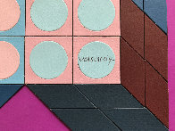 Untitled - Mauve 1985 37x25 HS Works on Paper (not prints) by Victor Vasarely - 3
