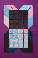 Untitled - Mauve 1985 37x25 HS Works on Paper (not prints) by Victor Vasarely - 0