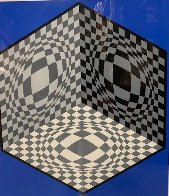 Cubic Relationships 1982 Limited Edition Print by Victor Vasarely - 2