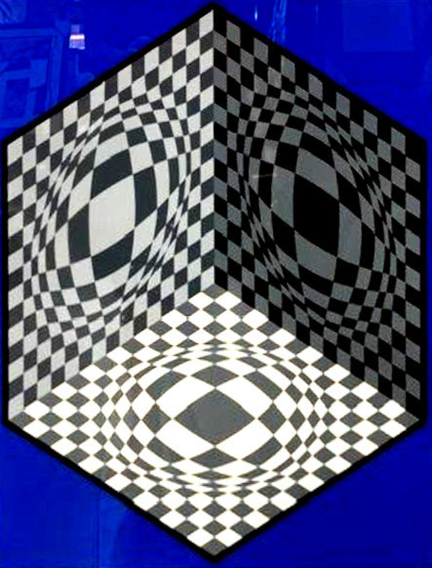 Cubic Relationships 1982 Limited Edition Print by Victor Vasarely